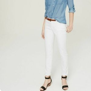 Loft Relaxed White Jeans